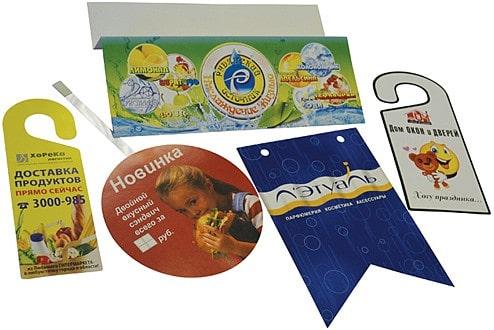 Печать P.O.S.-материалов: воблеров, шелфтокеров, шелфстоперов, фирменнх бумажных пакетов